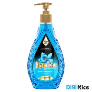مایع دستشویی شفاف زمرد راپیدو حجم 450 آبی