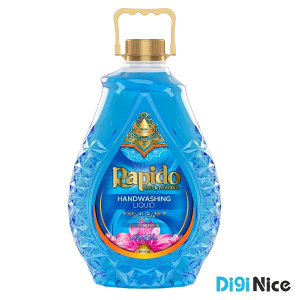 مایع دستشویی شفاف زمرد راپیدو حجم 3000 آبی