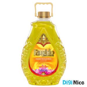 مایع دستشویی شفاف زمرد راپیدو حجم 3000 زرد