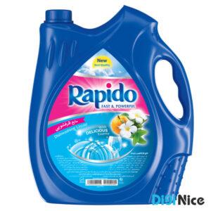 مایع ظرفشویی شفاف آبی راپیدو حجم 3750