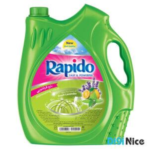 مایع ظرفشویی شفاف سبز راپیدو حجم 3750