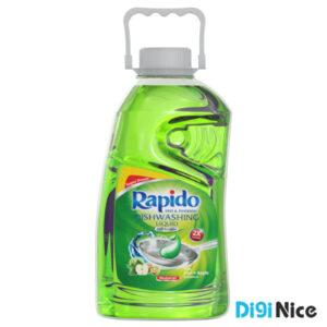 مایع ظرفشویی شفاف سبز راپیدو حجم 2000