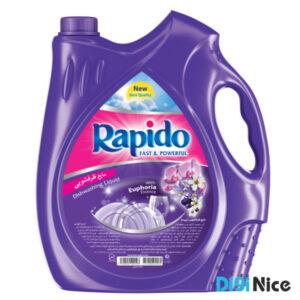 مایع ظرفشویی شفاف بنفش راپیدو حجم 3750