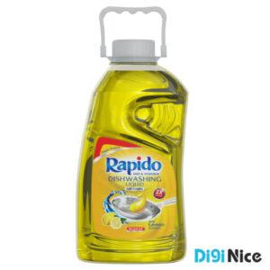 مایع ظرفشویی شفاف زرد راپیدو حجم 2000