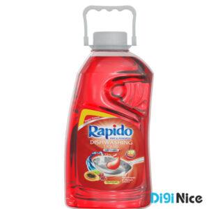 مایع ظرفشویی شفاف قرمز راپیدو حجم 2000