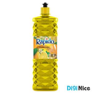 مایع ظرفشویی کریستالی زرد راپیدو حجم 900