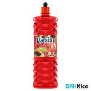 مایع ظرفشویی کریستالی قرمز راپیدو حجم 900