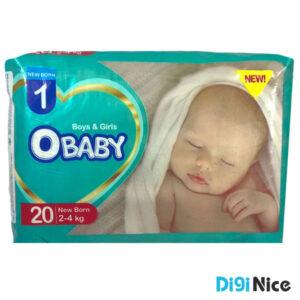 پوشک کامفلکس او بیبی سایز نوزادان بسته 20 عددی