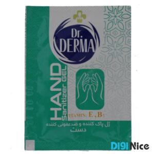 پد ژل پاک کننده و ضدعفونی کننده دست دکتر درما