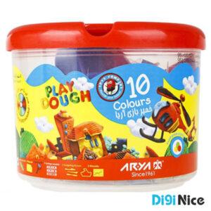 خمیربازی آریا 10 رنگ سطلی کد 1068