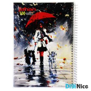 دفتر جهان 100 برگ طرح Classic Paint کد DN9908