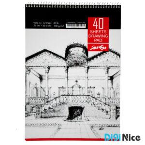 دفتر طراحی 40 برگ دوکا سایز A4