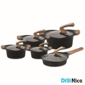 سرویس قابلمه نانو گرانیتی 10 پارچه دلمونتی مدل DL1160