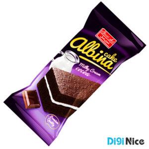 کیک لایه ای کاکائویی شیرین عسل با کرم شیری 35 گرم